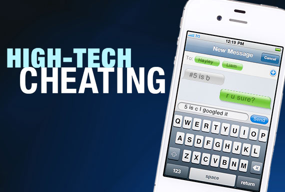 High-tech cheating on a phone