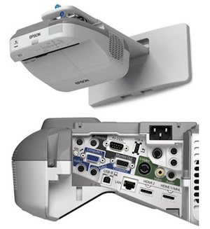 The Epson BrightLink 595Wi supports touch-based interactivity for as many as six simultaneous users.
