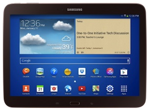 The Samsung Galaxy Tab will feature integration with Google Play for Education.