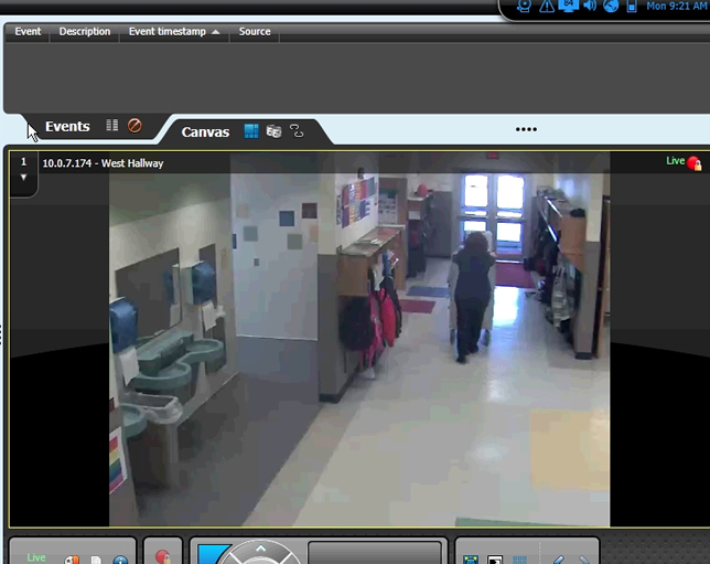 Motion detection in the surveillance system allows school personnel to search video more efficiently and reduces storage requirements.