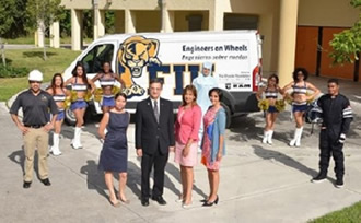 FIU's Engineers on Wheels van will start visiting high schools in South Florida this fall.