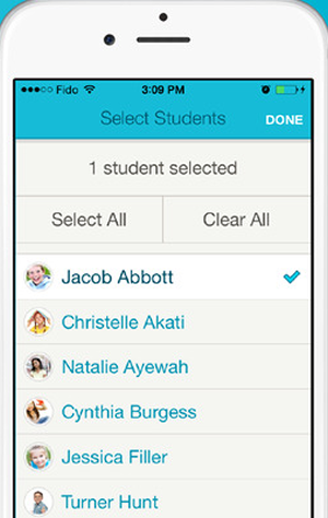 FreshGrade allows teachers to add student tags to learning artifacts for automatic inclusion in e-portfolios.