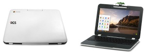 The ruggedized RGS Education Chromebook is Smarter Balanced and PARCC compliant.