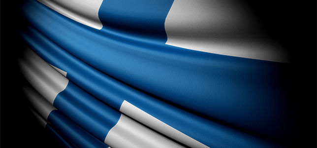 The flag of Finland