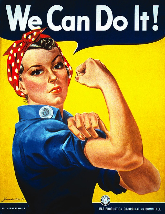 image showing we can do it poster by J Howard Miller
