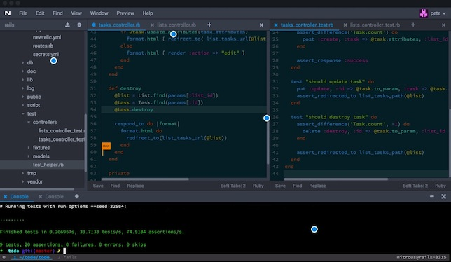 Nitrous is browser-based, allowing students to code from any connected computer.