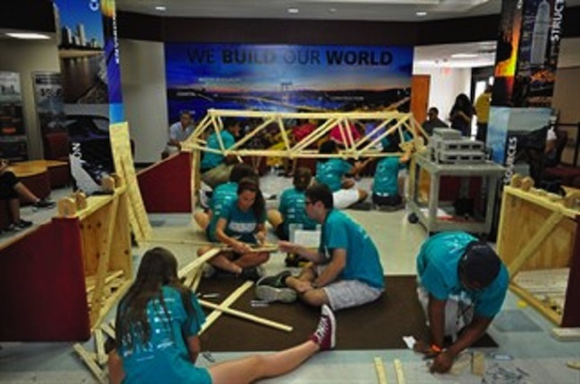 Students at this summer's CampBUILD at Texas A&M got the chance to find solutions to real-life engineering challenges. Image courtesy of Texas A&M.