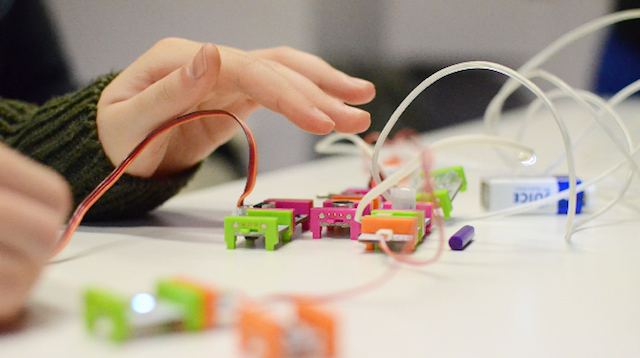 With its electronic building blocks, the LittleBits kits allow children to make musical instruments, robotic cars and anything else they can imagine.
