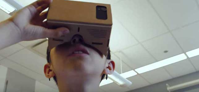 Google Cardboard lets students experience a virtual excursion as an immersive, three-dimensional event.