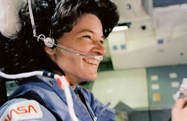 Sally Ride was the first American woman in space. Photo by NASA