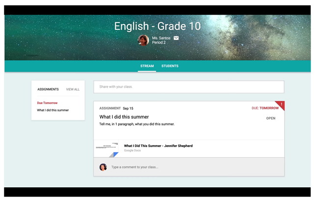 Google Classroom automates the sharing process but isn't necessarily an organizational tool.