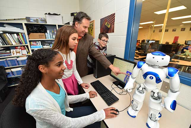 teaching stem skills with robots