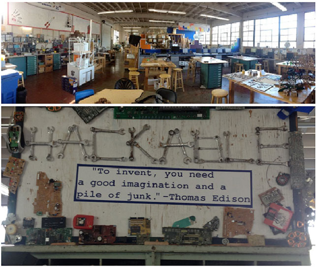 A section of the expansive makerspace at Analy High School in Sebastapol, CA.