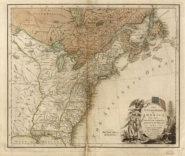 The United States of America laid down from the best authorities, agreeable to the Peace of 1783.