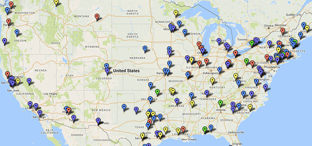Ed Tech Strategies' K–12 Cyber Incident Map. Courtesy of Doug Levin.